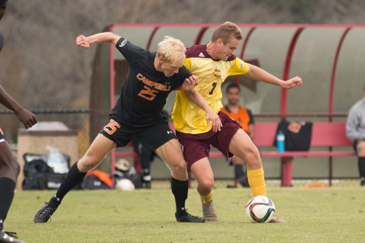 Charles Coulson battles for the ball during the last regular season homegame of the year.