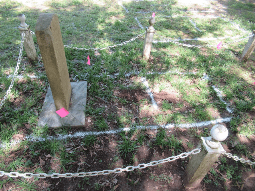 Theophilus Hunter grave and grave marker
