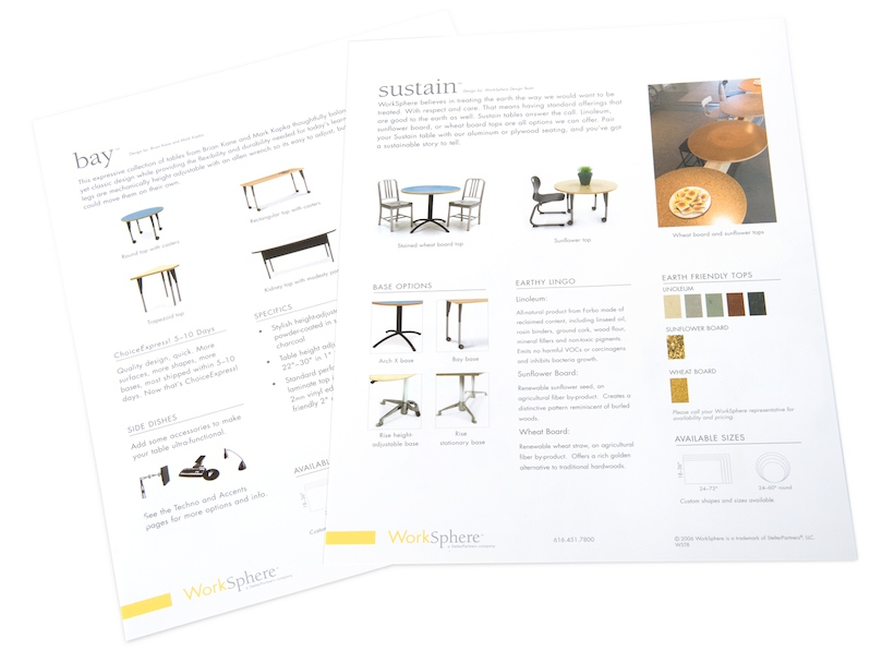 product sales sheet print