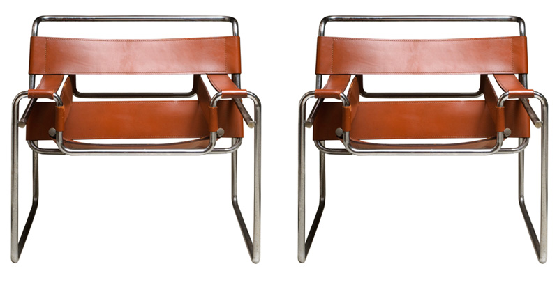 wassily chair brown leather desk no casters chairs m breuer circa 1970 chrome with carmel product lust pinterest