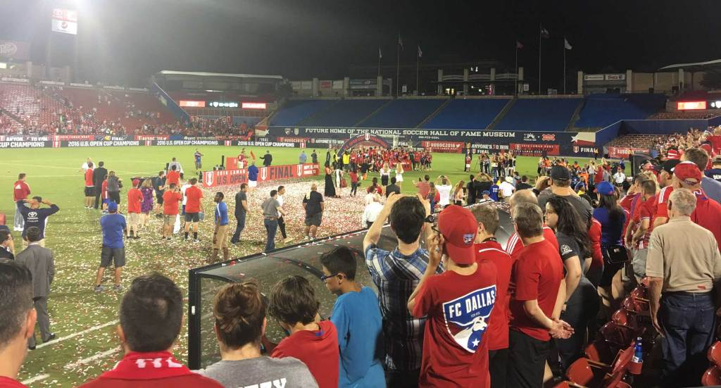 FC Dallas celebrate their U.S. Open Cup title