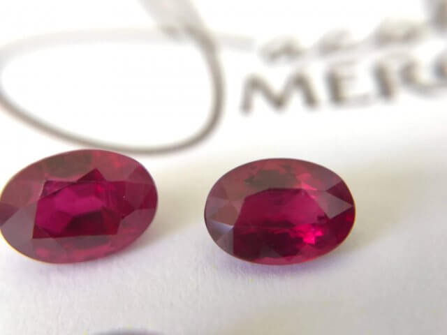 two red rubies