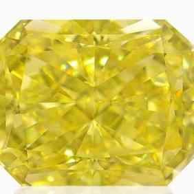 fancy yellow radiant cut diamond