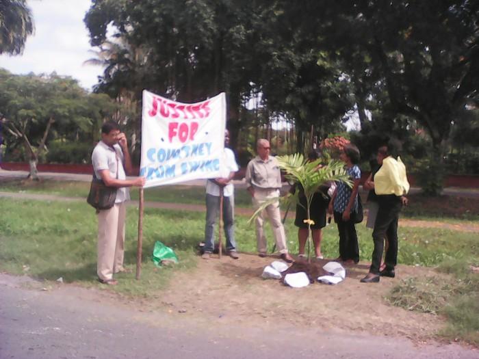 justice for crum ewing vigil