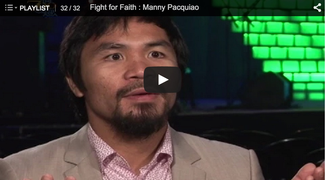 Testimony of the Day: Manny Pacquiao