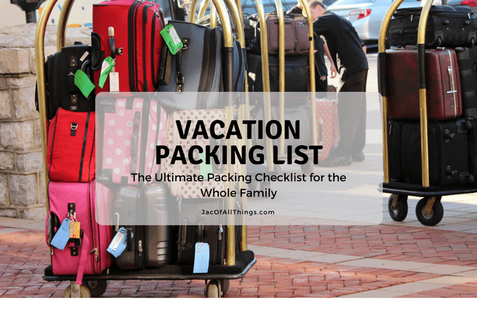 vacation packing list the ultimate packing checklist free printable