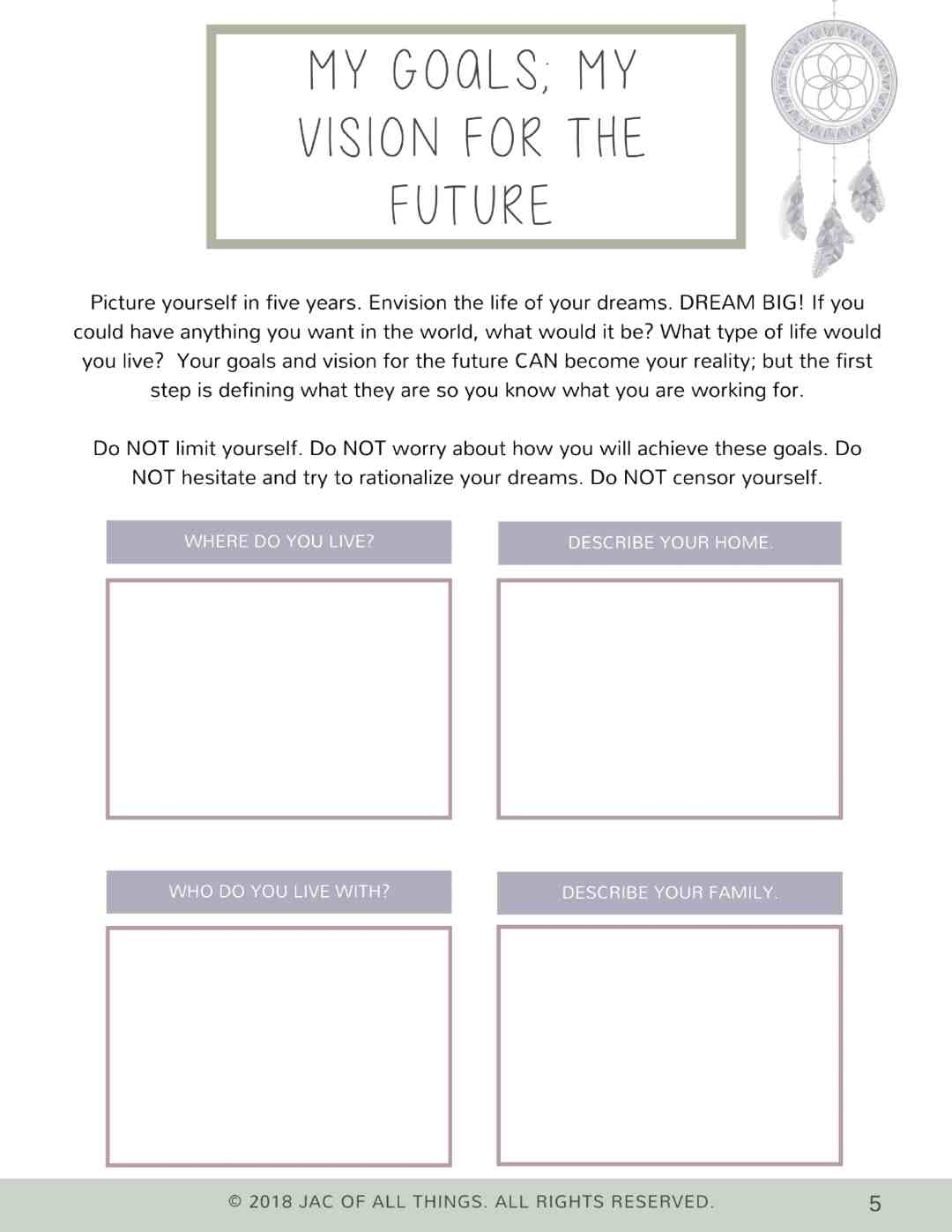 Goal Setting Worksheets How To Turn Your Goals Into Reality Free