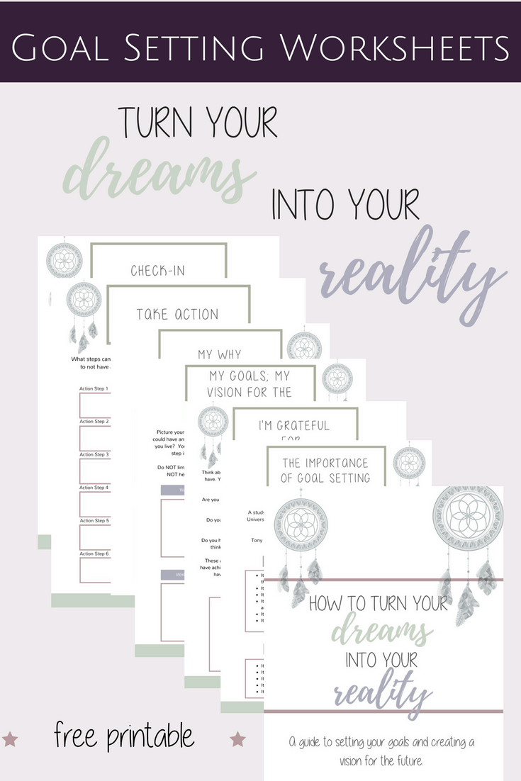 goal setting worksheets how to turn your goals into reality free printable guide jac of. Black Bedroom Furniture Sets. Home Design Ideas