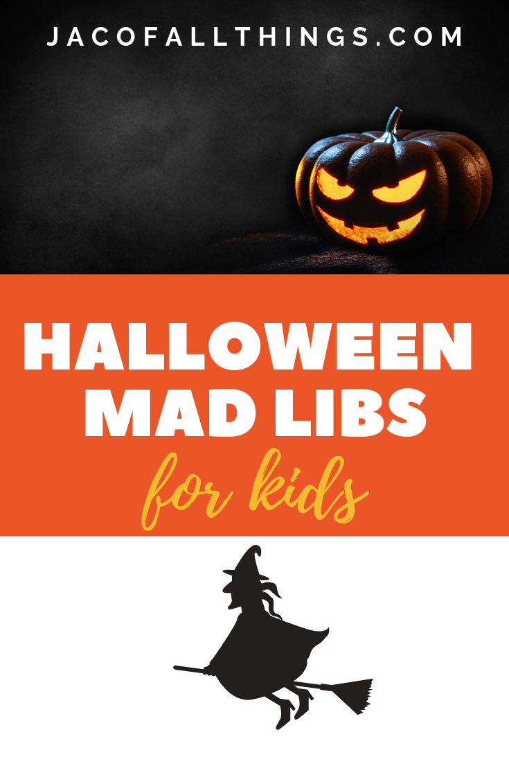 Enjoy these Halloween Mad Libs for kids! The perfect activity for fall! Download your free printable now!