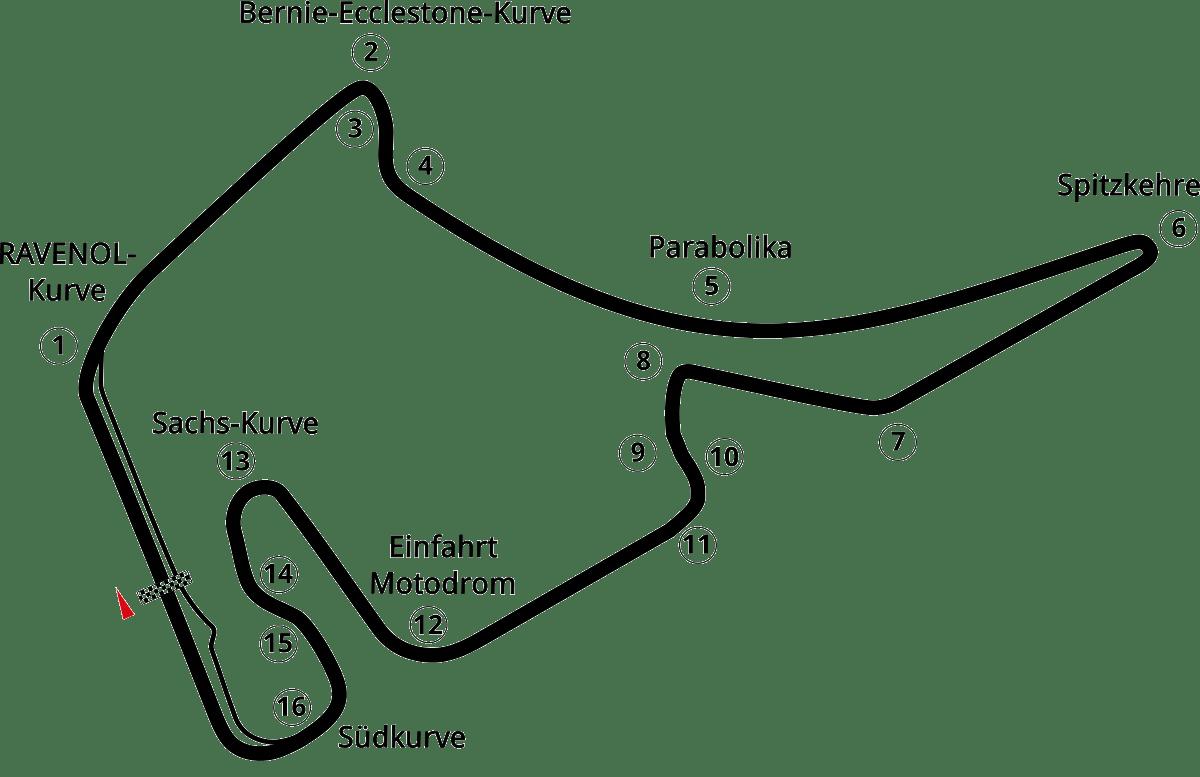 Karte Hockenheimring