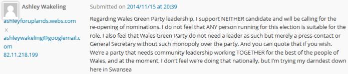 Wakeling 'no leader'
