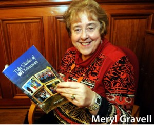 Llanelli news with James story Wednesday 19th November 2014 Meryl Gravell with her new book