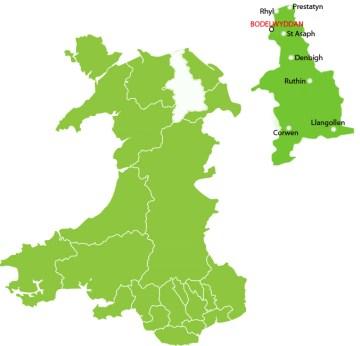 Denbighshire blog map
