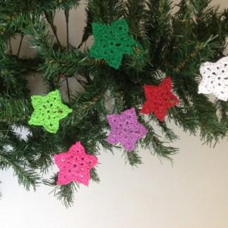 handmade crochet cotton star decoration