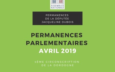 Permanences parlementaires avril 2019