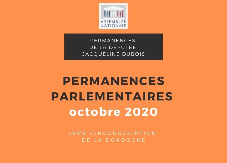 Permanences parlementaires OCTOBRE 2020