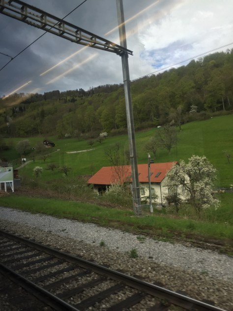 on the train to Moehlin form Zuerich