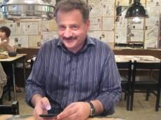Dad at Korean BBQ in Asakusa.