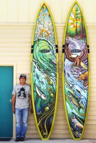 drew-brophy-and-painted-riviera-paddleboards-for-keen-photo-by-larry-beard-april-2013-400x600