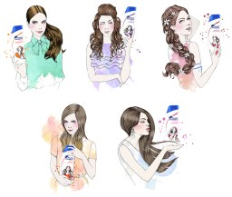 head-and-shoulders-miss-led-illustration-watercolour-fashion