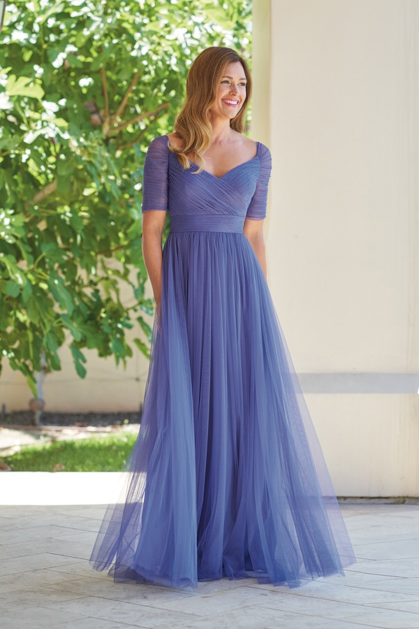 The Mother of Bride Dress White or Blue