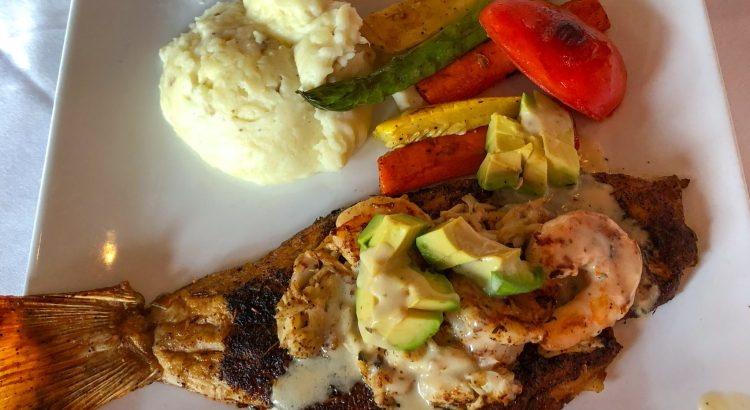 Willie G's Blackened Snapper Lafitte