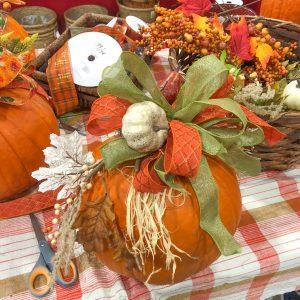 Pumpkin Centerpiece bow