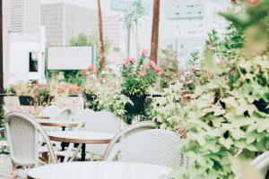 Bright white terrace