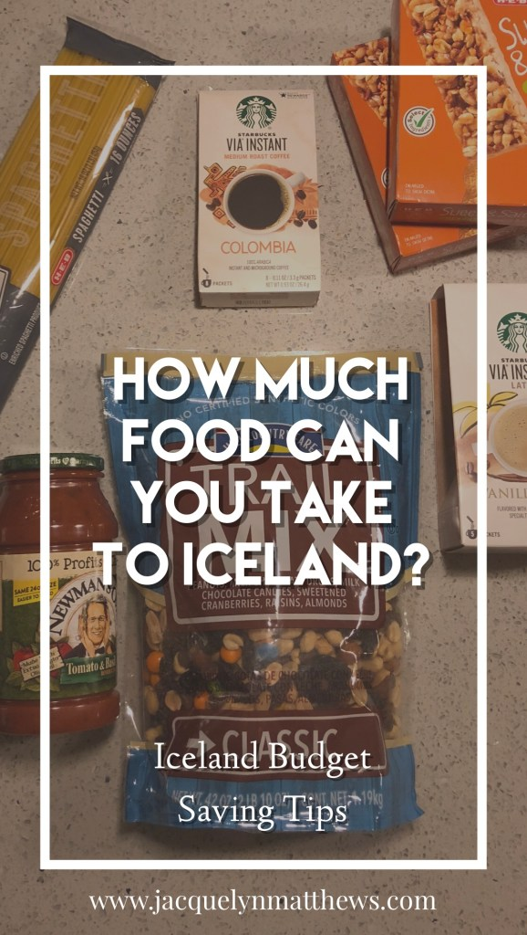 Wondering how much food you are allowed to pack and take into Iceland? Click here to see how much!