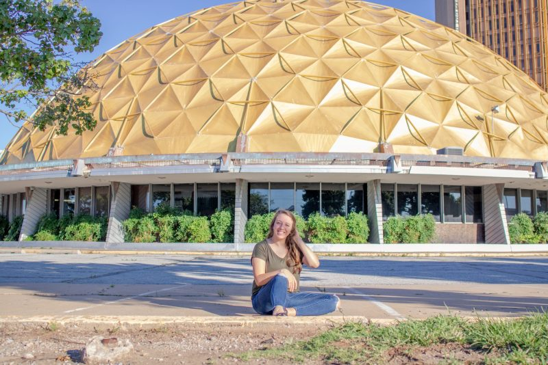 An old geodesic dome building