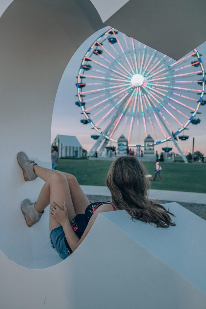The old Santa Monica ferris wheel in Oklahoma City