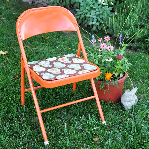 Folding Chair Makeover tutorial