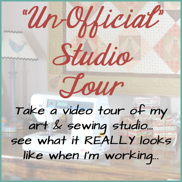 Art and Sewing Studio Tour Video Jacquelynne Steves