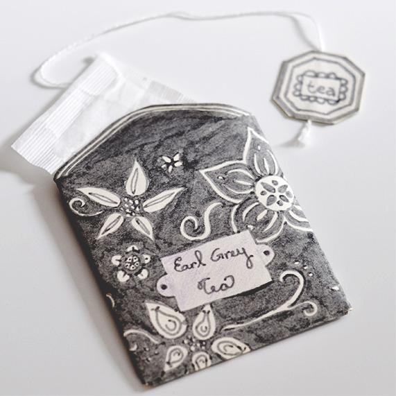 Tea Bag packet tutorial gift enclosure card enclosure