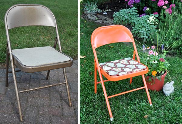 Fabulous Metal Folding Chair Makeover Jacquelynne Steves