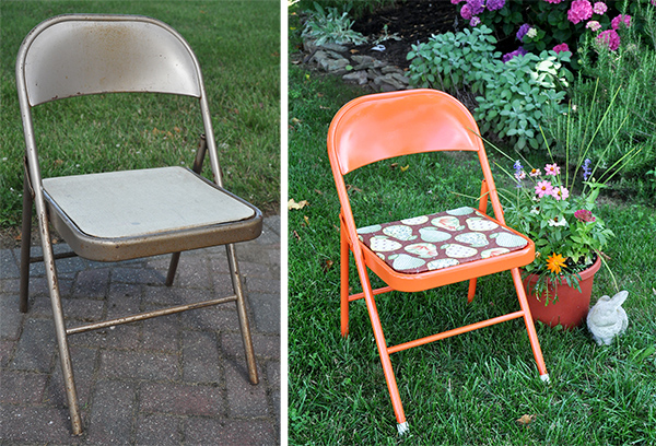 Fabulous Folding Chair Makeover Painting Metal Folding Chair