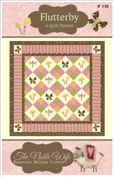 Flutterby Butterfly Quilt Pattern The Noble Wife Jacquelynne Steves