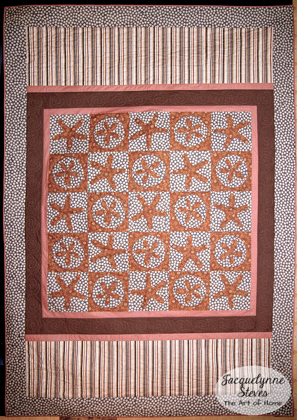 Starfish Sand dollar Quilt- Nantucket- Jacquelynne Steves
