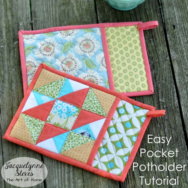 Easy Pocket Potholder Tutorial- Jacquelynne Steves