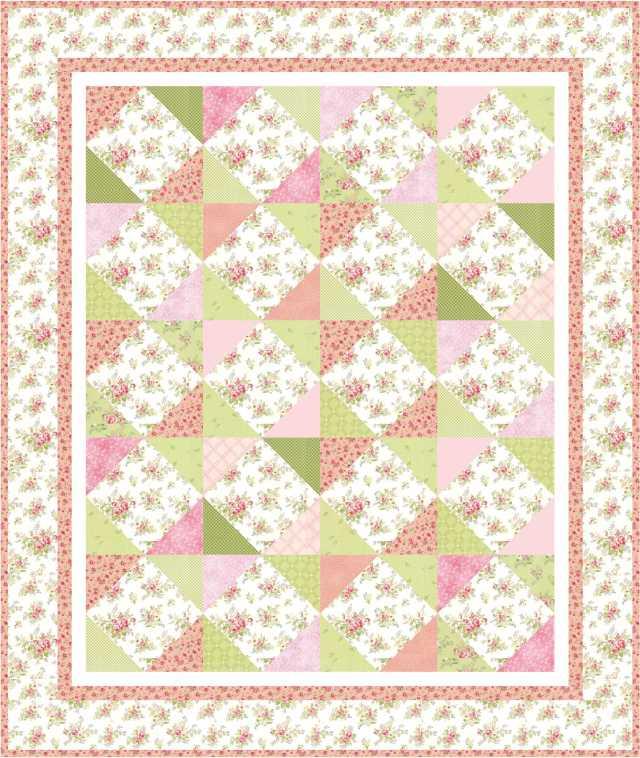 Grammy S Rose Garden Free Quilt Pattern Jacquelynne Steves