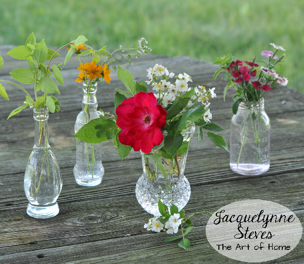 Small Flower & Herb Arrangements from the yard - Jacquelynne Steves