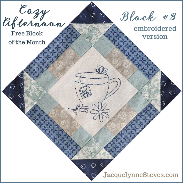 Block 3 Cozy Afternoon Free BOM- Jacquelynne Steves