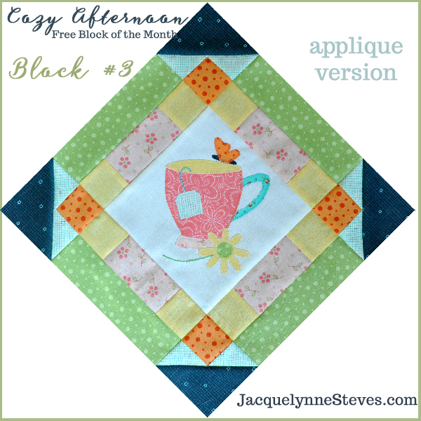 Cozy Afternoon Free Block of the Month-Block3- Jacquelynne Steves
