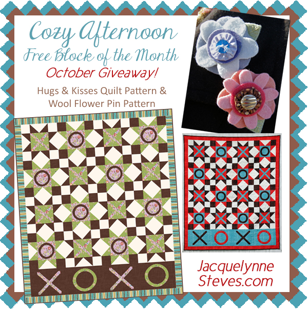 Giveaway for October- Cozy Afternoon Free BOM
