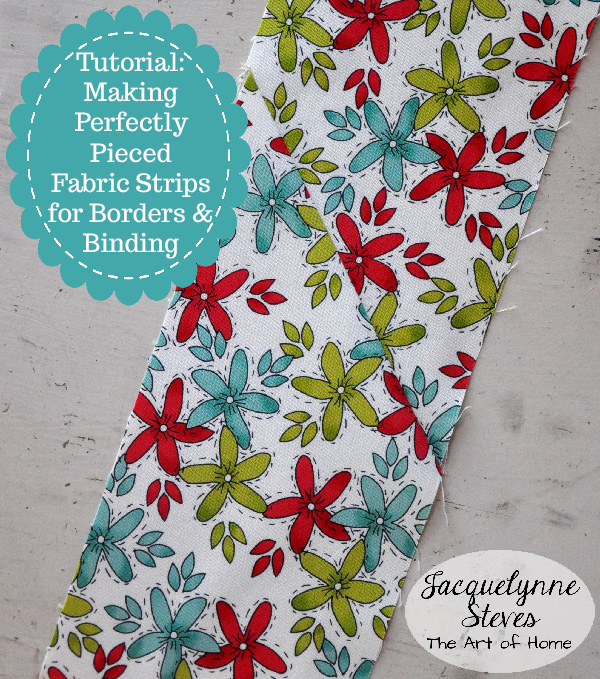 Piecing Fabric Strips For Borders And Binding Using A Diagonal Seam
