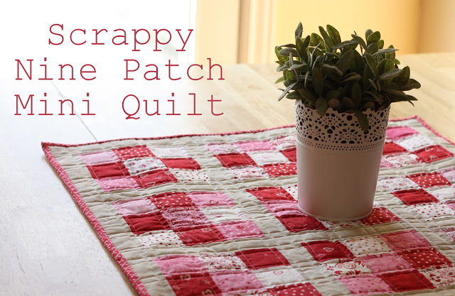 nine patch table quilt tutorial