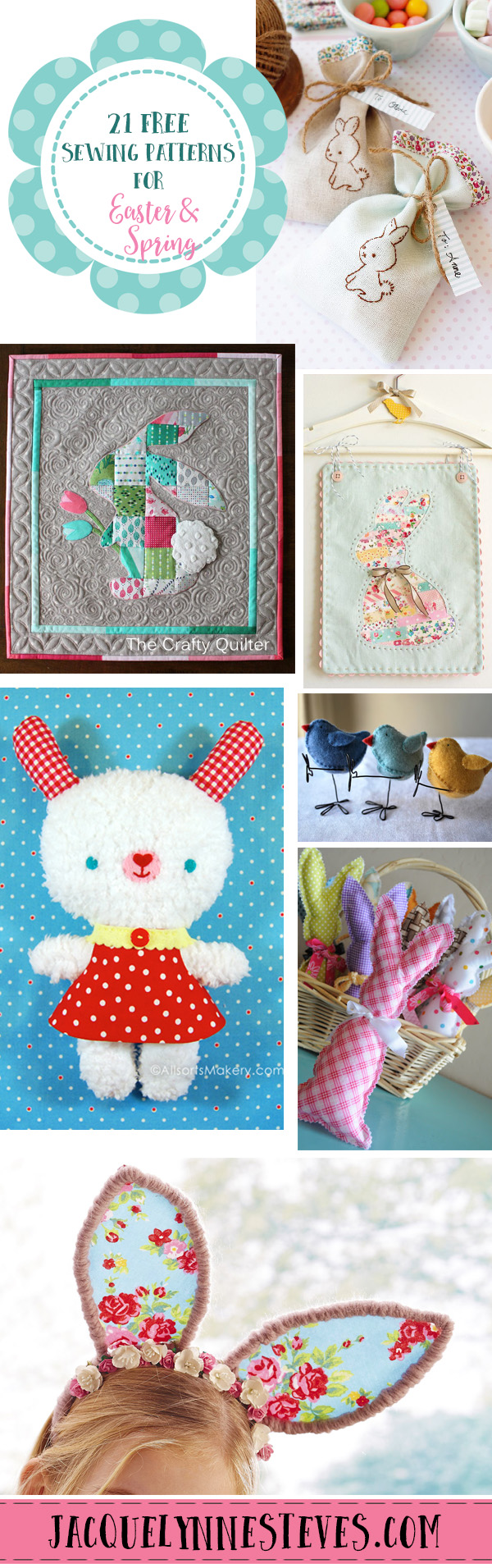 21 Free Sewing Patterns For Easter Amp Spring Jacquelynne
