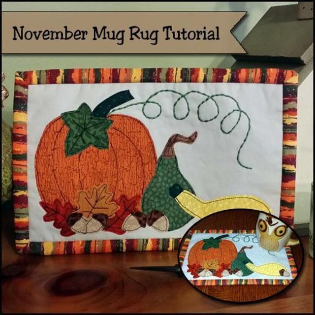 Free Fall Mug Rug Pattern- perfect for Thanksgiving!