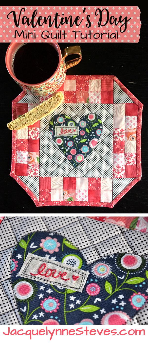 Valentine S Day Mini Quilt Pattern Amp Tutorial