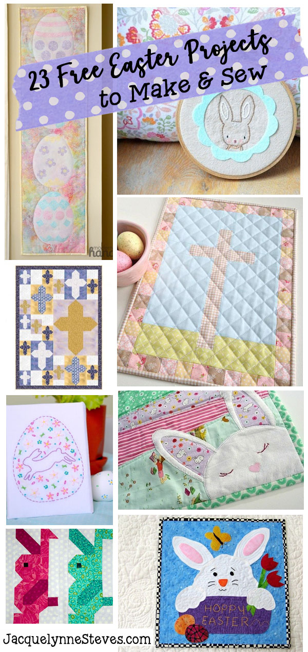 23 free easter patterns to sew jacquelynne steves easters on its way weve collected some of the prettiest projects here to inspire you yep heres 23 free easter patterns to sew youll find crosses negle Images